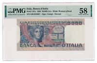 ITALY banknote 50.000 Lire 1980 PMG AU 58 Choice About Uncirculated
