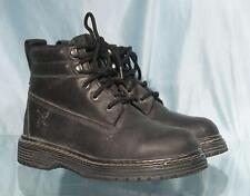 TX Black Leather Steel Toe Work Boots 7M