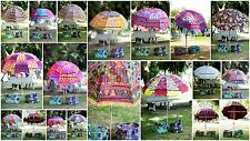 30 Big Garden Umbrellas Patios New Embroidery Mirrors Garden Decor Ethnic Indian