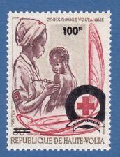 Alto Volta 1971 red cross croce rossa sovrastampato MNH**og surcharged