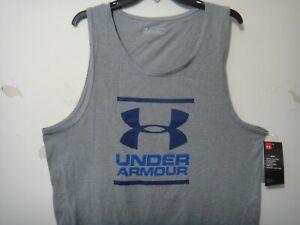 Under Armour Men Heatgear Loose Fit Tank Top Shirt Color Gray Size XL