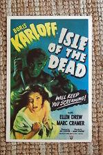Isle of the Dead Lobby Card Movie Poster Boris Karloff