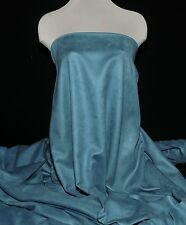 """FAUX SUEDE FABRIC 100% POLY, DOUBLE FACE, SOFT 60"""" BLUE STONE  CLOTHING"""