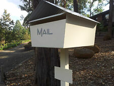 LARGE A4 CREAM LETTERBOX MAIL BOX MAILBOX POST SOLID POWDERCOATED NEW