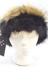 Women Ladies Russian Fur Headband Ear Muff Warmer Ski Hat Faux Fur