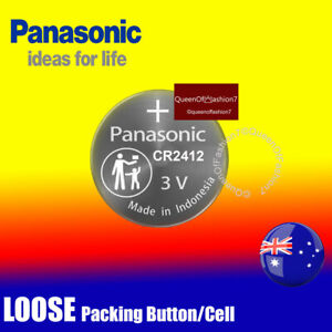 1 x Panasonic CR2412 LOOSE Packing Battery Lithium Cell Button Batteries