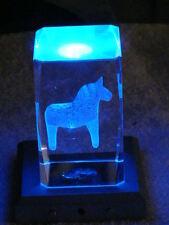 Culto Svezia cavallo dalahäst dalapferd vitographie vetro incisione interna fantastico