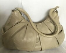 ANNAPELLE Beige Leather Shoulder Bag / Handbag