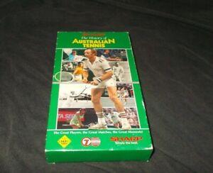 The History Of Australian Tennis VHS Pal Sharp 7 Sport Carton