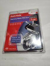 SanDisk Memory Stick PRO Duo 1.0GB NEW Sealed - Media