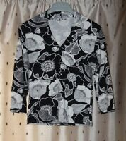 M&S Ladies Stretch Floral Top ~ Size 14