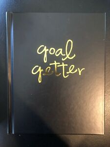Fitspiration Goal Getter Black and Gold 8 x 7 Paper Fitness Planner Journal