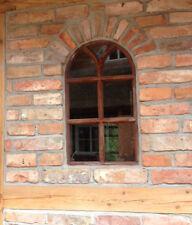 Eisenfenster mit Rundbogen, Fenster, Stallfenster aus Eisen wie Antik, Gusseisen