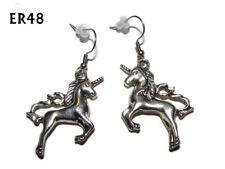 steampunk earrings unicorn horse fantasy hypoallergenic stainless steel #ER48