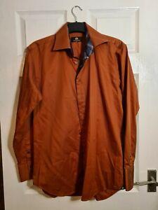 Circle of Gentlemen Burnt Orange Coloured Dress Shirt 15 1/2 Inch Collar  *001