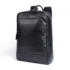Mens Womens Genuine Leather Backpack Laptop School Bag Travel Rucksack Large