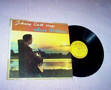 JOHNNY CASH, 50s COUNTRY LP, JOHNNY CASH SINGS HANK WILLIAMS, SUN LABEL