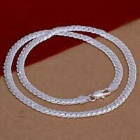 Men Necklaces Snake Chain 925 Sterling Silver 5MM Chains Jewelry Pendant Gift CA