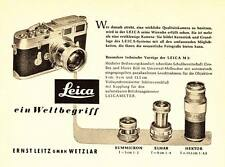 1956 Leica Wetzlar Kamera Weltbegriff Objektiv 14x10 cm original Printwerbung