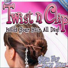 Women Ladies Twist N Clip Jumbo 4 Hair Clip Plus Tattle Tail Hairpin Accessory Q