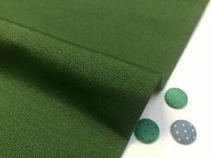 Plain Ottoman Fabric Curtains Upholstery Cotton Canvas Material 110'' Dark Green
