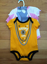 Boston Bruins Baby Bodysuits.  3 Pack. Brand New. Girls. 0-3 Months.