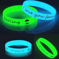 leuchten glanz leuchtendes bändchen silicagel silikon - armband gummi - armband