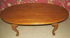 Ethan Allen Oval Coffee Table Canterbury Oak Collection 28 8410 278 Finish