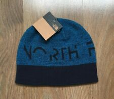 THE NORTH FACE REVERSIBLE BANNER BEANIE NAVY BLUE HAT - ONE SIZE - BRAND NEW