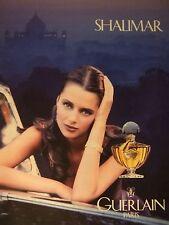 PUBLICITÉ 1994 GUERLAIN SHALIMAR PARFUM - ADVERTISING