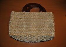 Cappelli Straworld Light Straw Shoulder Tote Bag Wooden Handles