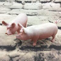 "Vintage Pigs Mama Hogs 2.5"" Figures PVC Farm Animal Toys Lot Of 2 Flaw"