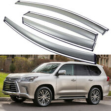 1Set Car Window Vent Visor Deflector Shade Sun/Rain for 2016-2020 Lexus LX 570