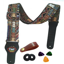 Guitar Strap Vintage Woven Style Adjustable Acoustic Electric Guitar Bass Strap
