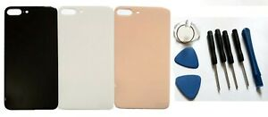 For iPhone 8 Plus + Back Glass Battery Replacement Case Big Camera Hole Housing
