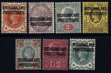 Bechuanaland Prot 69 to 74 & 75 mh/mlh set (SG 59 to 65) w/crown wm - Victoria