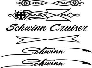 Schwinn Cruiser Decal Set