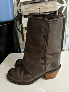 Luxury Rebel Brady Boot Women Sz 8/39.5 Taupe Brown Leather Mid Calf Boot