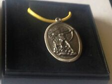 "Diana Goddess code dr88 Made From  English Pewter On 18"" Yellow Cord Necklace"