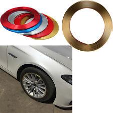 Car 8M Gold Trend Vehicle Wheel Rim Protector Tire Guard Line Rubber Moulding