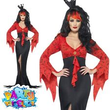 Smiffys Womens Halloween Evil Queen Ladies Fancy Dress Party Costume Size 16-18 23166l