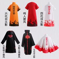 Anime NARUTO Cosplay Costume Akatsuki Ninja Wind Coat Uniform Cloak Halloween