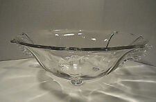 Fostoria Clear Baroque Four Toes Console Bowl