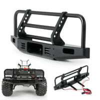 Alloy Front Bumper w/ LEDs for Traxxas TRX-4 SCX10 II 90046 1/10 RC Crawler