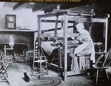 Loom in Colonial Household, Magic Lantern Glass Slide, (Worcester Society Photo)