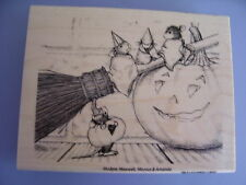 HOUSE MOUSE RUBBER STAMPS THREE WITCHES HALLOWEEN NEW wood STAMP