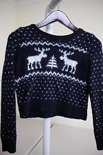 Abercrombie & Fitch Wool, Acrylic & Alpaca Blend Blue & White Sweater Size Small