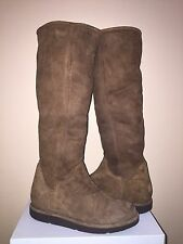 UGG COLLECTION CARMELA TALL BRUNO BROWN SUEDE BOOTS US 6 / EU 37 / UK 4.5 - NIB