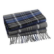 Tartan Scarf Mens Women's Check Stripe Plaid Tassel Autumn Winter Warm Scarves