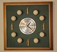 Vintage Golf Ball Wall Clock in working condition 17x17